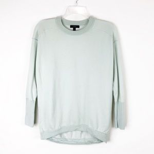 J Crew Mint Crew Neck Asymmetrical Sweater